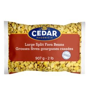 Cedar Dry SPLIT Fava Beans 10/907 gr