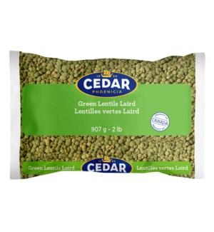 Cedar Dry Green Large Lentils 10/907 gr