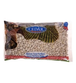 Cedar Dry Great Northern Beans 10/907 gr