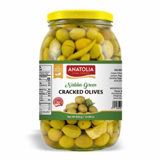 Anatolia Cracked Green Olives 6/2000 ml