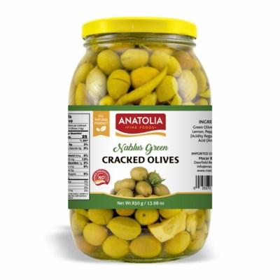 Anatolia Cracked Green Olives 6/2000 ml