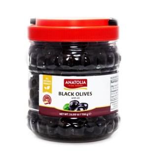 Anatolia Black Olives 6/700 gr