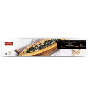 Anatolia Pide w/Spinach & Cheese (125gr x 3pcs) x 12