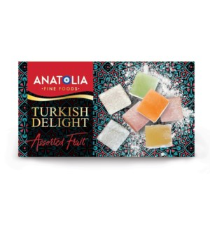 Anatolia Mixed Fruit Turkish Delights 12/454 gr