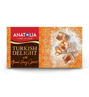 Anatolia Turkish Delight Almond, Honey, Apricot 12/450 gr