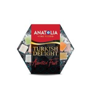 Anatolia Turkish Delight w/Assorted Fruit 12/250 gr