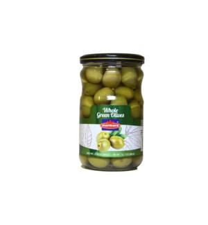 Marmara Whole Green Olives 12/660 gr
