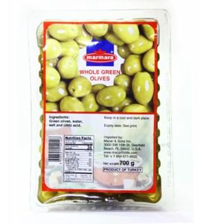 Marmara Whole Green Olives (vacuum) 12/700 gr