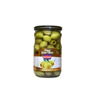 Marmara Green Pitted Olives 12/660 gr