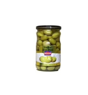 Marmara Green Cracked Olives 12/660 gr