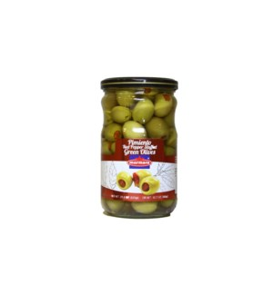 Marmara Olives Stuffed w/Pimento 12/660 gr