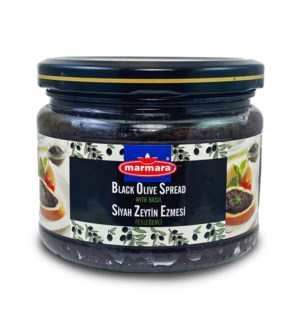 Marmara Black Olive Paste w/Basil 12/300 gr