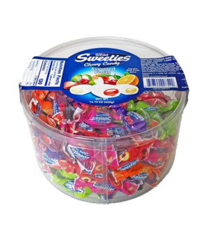 Bonart Sweeties Fruit Flavored Chewy (Tub) 12/400 gr