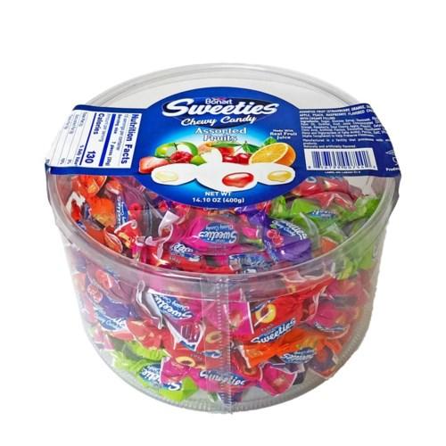 Bonart Sweeties Fruit Flavored Chewy (Tub) 12/400 gr