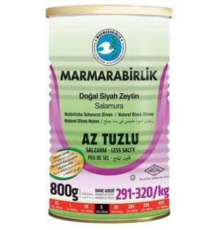 Marmarabirlik Black Olives S Low Salt 6/800 gr