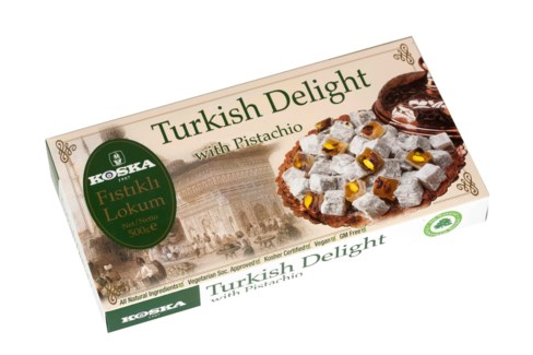 Koska Turkish Delight w/Pistachio 12/500 gr
