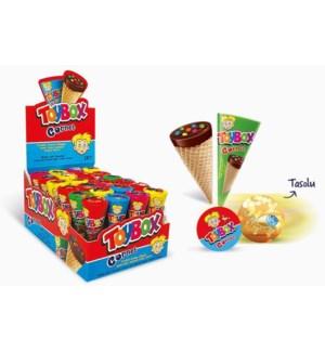 Toybox Cornet Wafer w/Hazelnut 24/25 gr