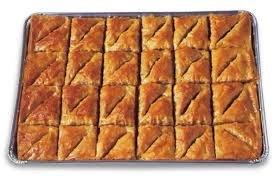 Athens Baklava Walnut (trays) 2/48pc
