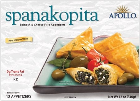 Apollo Spinach & Cheese Appetizers 12/12 pc