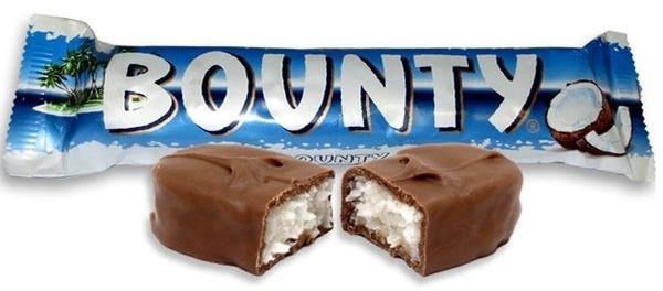 Bounty Chocolate Bars 24/57 gr