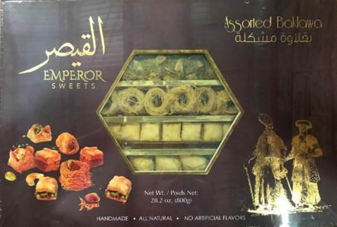 Emperor Assorted Baklawa Box 6/800 gr