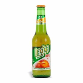 Laziza Peach Beer (non-alcoholic) 24/11.1 oz