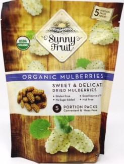 Sunny Fruit Organic Mulberries 18/5pk 1.76 oz