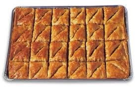Athens Baklava Walnut (trays) 2/48pc