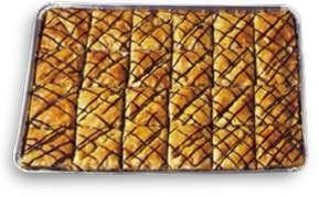 Athens Baklava Triangle w/chocolate 48 pcs