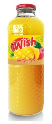 BPC Wish Mango Nectar (glass) 8/1 lt