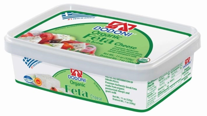 Dodoni Organic Feta (tub) 18/200 gr