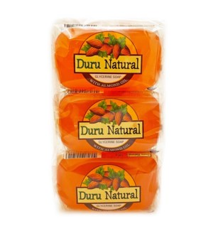 Duru Natural Bar Soap w/Almond 100grx6x12