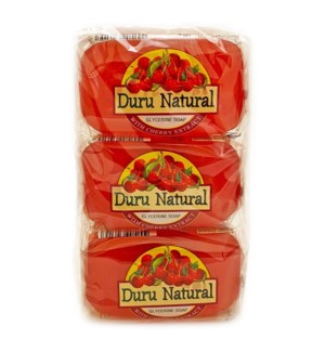 Duru Natural Bar Soap w/Cherry 100grx6x12