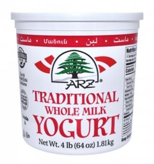 Arz Plain Yogurt 6/4 lb