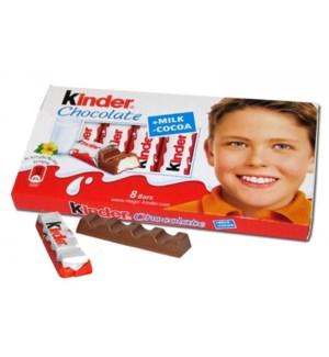 Kinder Milk Chocolate Bars 40/100 gr