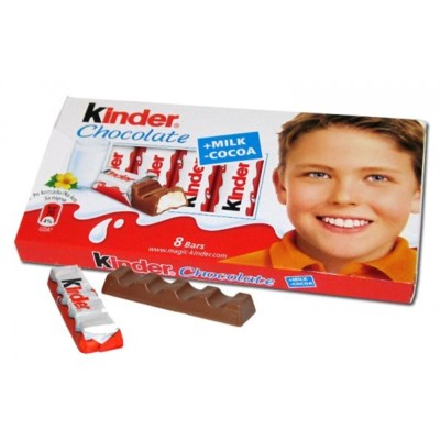 Kinder Milk Chocolate Bars 40/100 gr