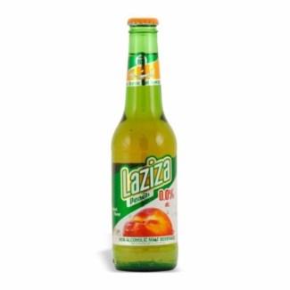 Laziza Peach Beer (non-alcoholic) 24/11.1 oz