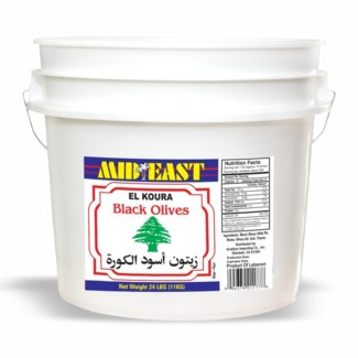 Green Lebanese Olives 24 lb