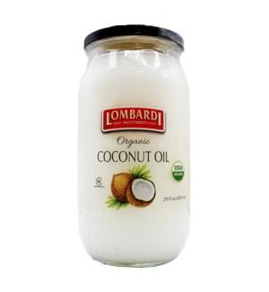 Lombardi Organic Coconut Oil 6/29 oz
