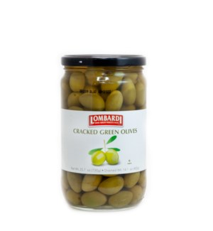 Lombardi Cracked Green Olives 6/730 gr