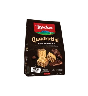 Loacker Quadratini Dark Chocolate 8/250 gr