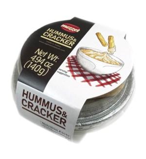 Mezzet Hummus w/Cracker 12/140 gr