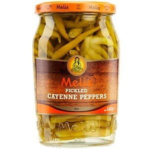 Melis Pickled Hot Cayanne 12/720 ml