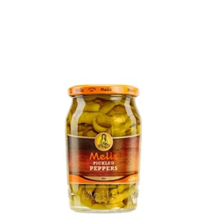 Melis Hot Pickles Peppers 12/720 ml