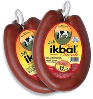 Ikbal Soujuk Halal Hot 16/10 oz