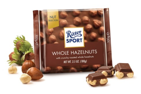 Ritter Sport Whole Hazelnuts 10/3.5 oz