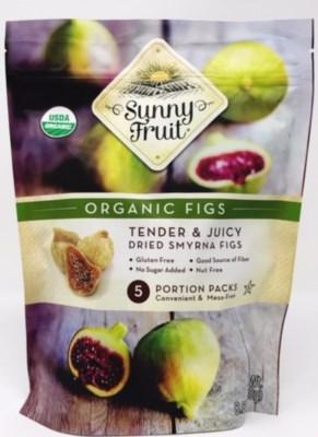 Sunny Fruit Organic Figs 18/5 pk 1.76 oz