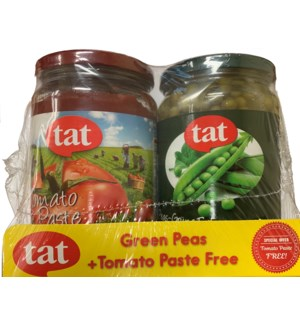 Tat Peas + Tomato Paste FREE 6 (combo packs)