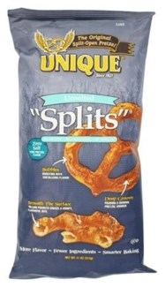 "Unique Pretzel Unsalted ""Splits"" 12/11 oz"