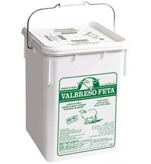 Valbresso French Feta (plastic) 5 gal